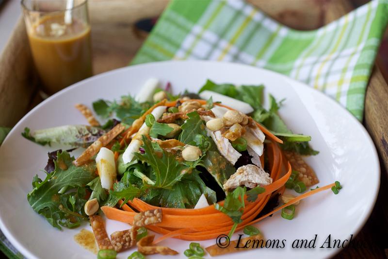 Recipe asian style spicy peanut vinaigrette
