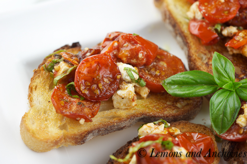 Bruschetta with tomatoes and feta 2