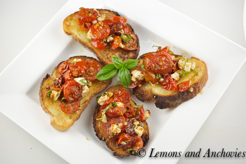 Bruschetta with tomatoes and feta 3