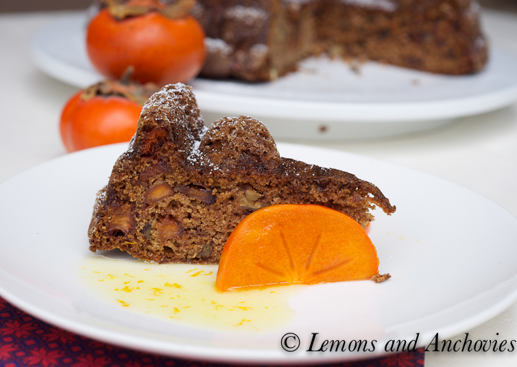 Persimmon Cake Recipe | Lemons and Anchovies