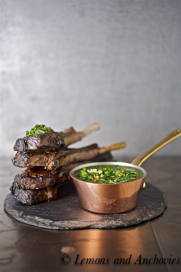 Grilled Lamb with Chimichurri Sauce Recipe | Lemons and Anchovies