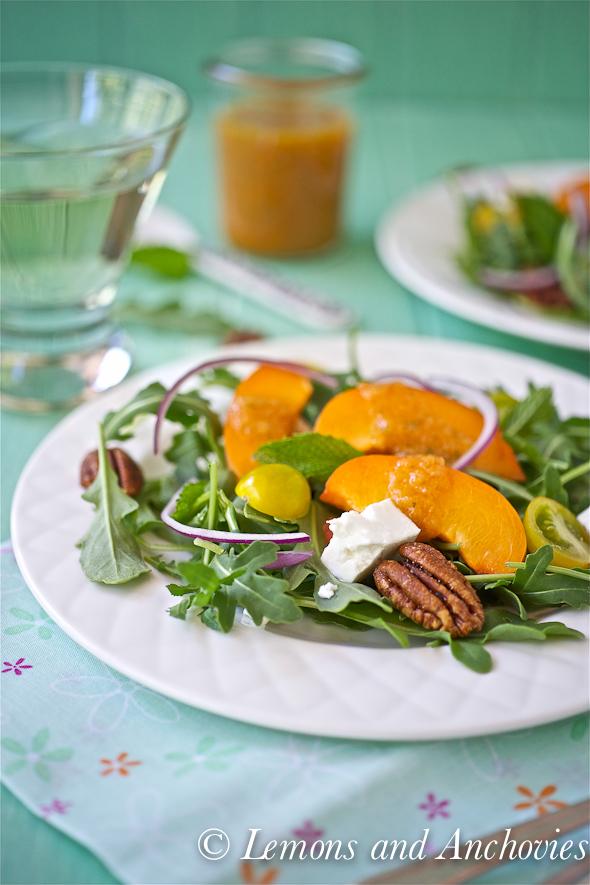 Arugula Salad with Apricot Mint Vinaigrette-3