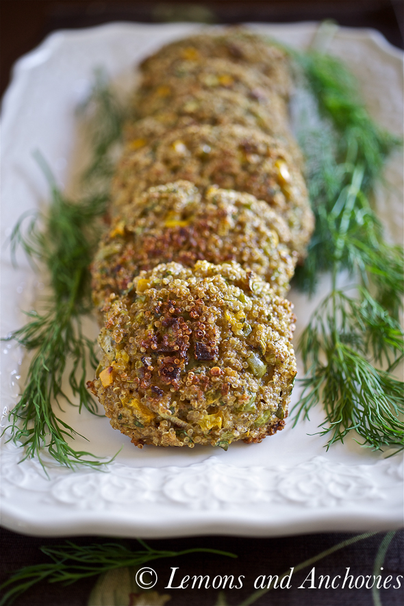quinoa cakes with yogurt dill dip save print these quinoa cakes ...