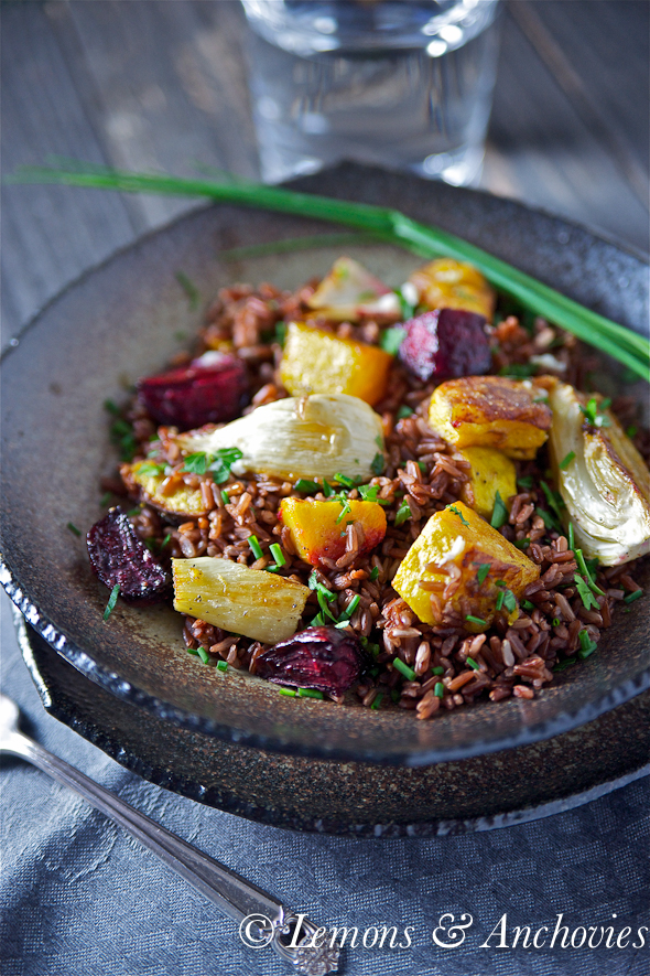 rice and squash red rice with roasted squash fennel and beets recipe lemons and