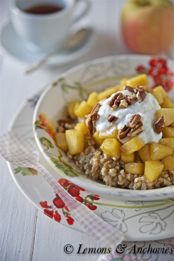 Steel Cut Oats with Apple, Pecans and Brown Butter | Lemons and ...