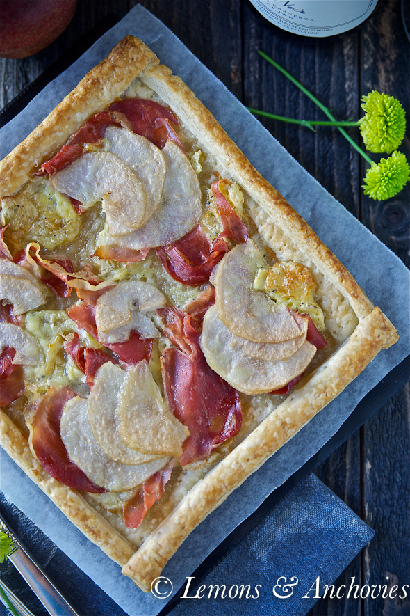 Pear, Prosciutto and Brie Tart | Lemons and Anchovies