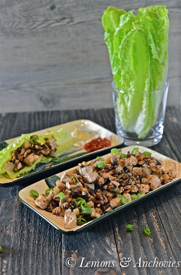 Mushroom-Tofu Lettuce Wraps-4