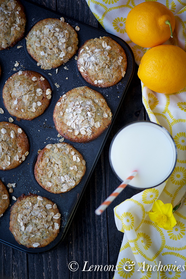 Meyer Lemon Poppy Seed Oatmeal Muffins (Low-Fat)You may also like