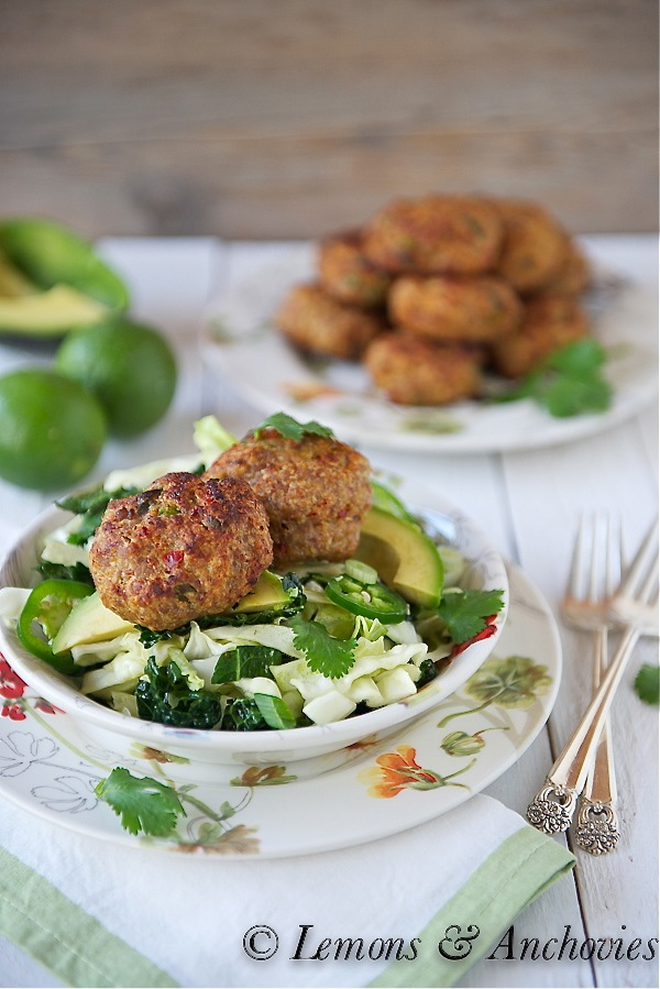 Thai-Style Baked Turkey Patties with Cabbage Slaw-3