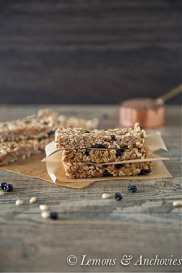 Blueberry Breakfast Bars (No Bake)-2
