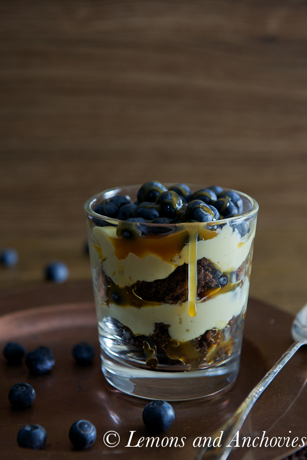 Chocolate Caramel Blueberry Trifle-3