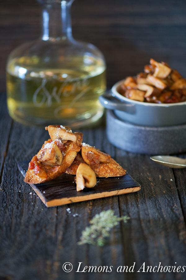 Parmesan Bruschetta with Mushroom Ragu-12