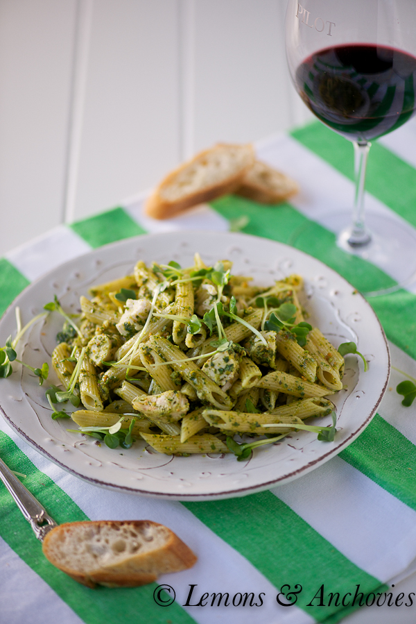 Penne with Chicken and Pistachio Pesto-3