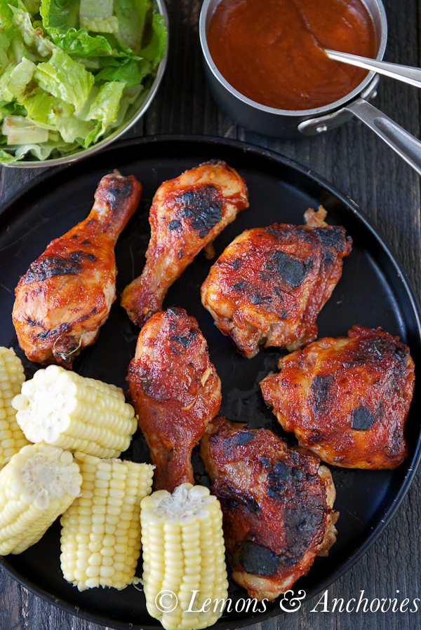 Chicken with Pineapple-Mango-Chipotle Barbecue Sauce | Lemons & Anchovies Blog