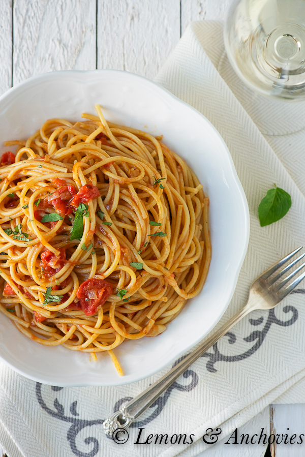 Spaghetti with Tomatoes & Anchovies-2