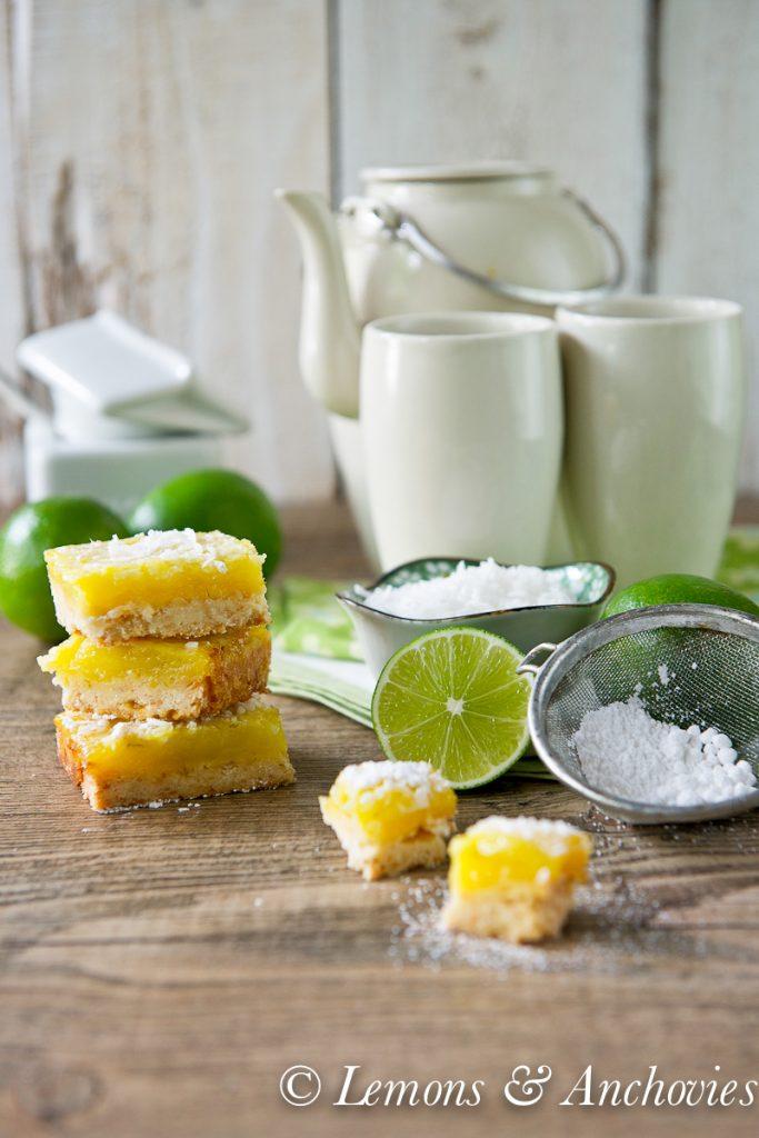 Coconut Lime Bars | http://lemonsandanchovies.com