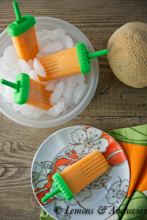 Cantaloupe Popsicles | http://lemonsandanchovies.com