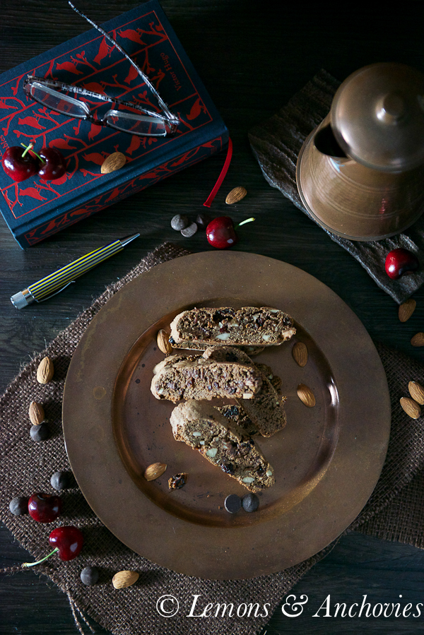Chocolate Cherry Almond Biscotti | Lemons and Anchovies