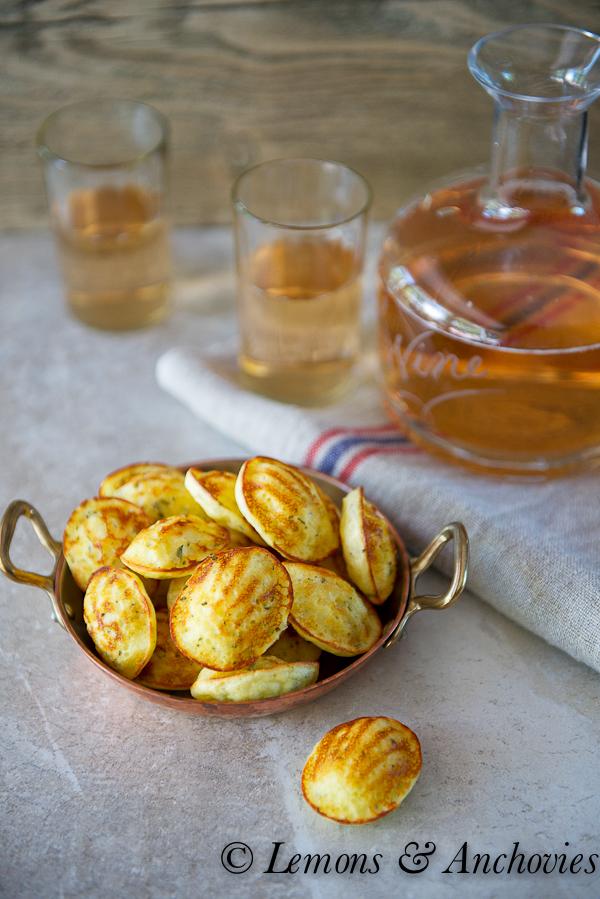 Savory Parmesan-Herb Madeleines | http://lemonsandanchovies.com