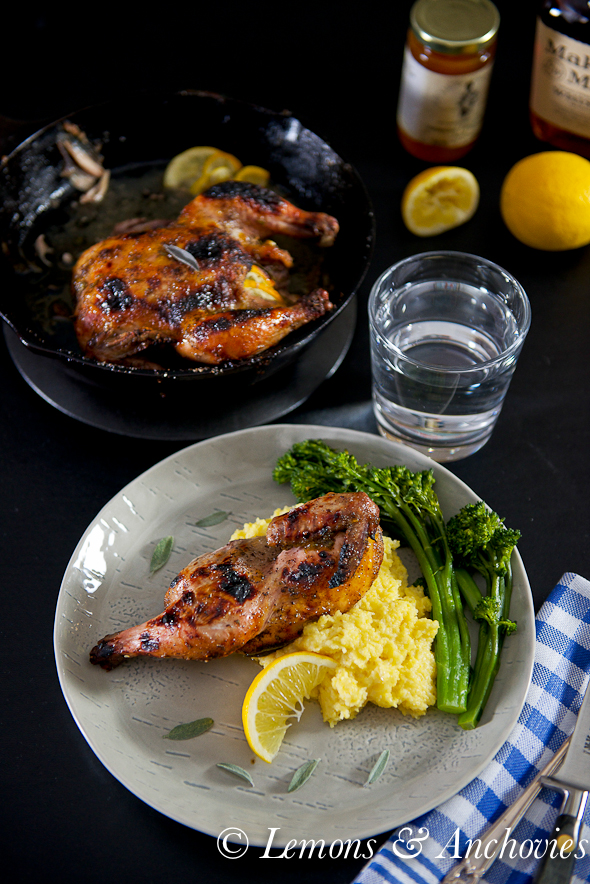 Roasted Cornish Game Hens with Whiskey-Herb-Citrus Glaze @lemonsanchovies