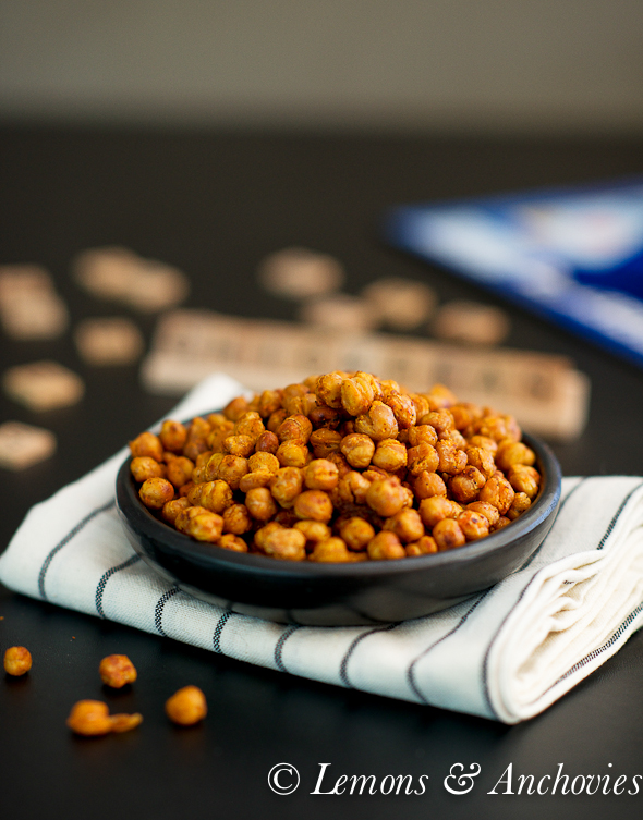 Buffalo Roasted Chickpeas @lemonsanchovies