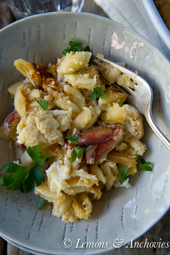 Cauliflower Mac-and-Cheese with Dungeness Crab