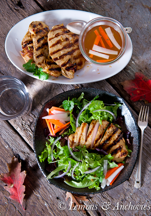 Lemongrass Grilled Chicken Salad