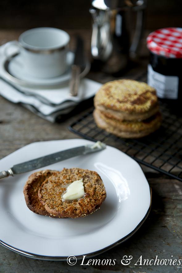 Sourdough Spelt English Muffins