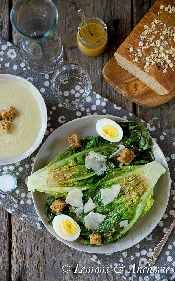 Caesar Salad with Grilled Romaine
