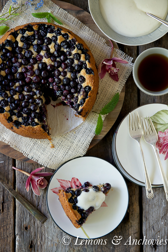 Blueberry-Sour Cream Pound Cake With Lemon Cream Recipe ...